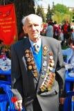Retrato de um veterano de guerra Fotos de Stock