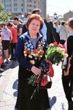 Retrato de um veterano de guerra da mulher Fotos de Stock