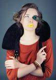 Retrato de uma atriz nova Fotos de Stock Royalty Free