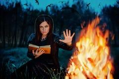 Retrato de uma bruxa imagem de stock royalty free