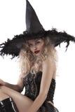 Retrato de uma bruxa de vista sensual fotografia de stock royalty free