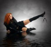 Retrato de uma bruxa nova Foto de Stock