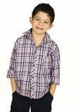Retrato de uma criança considerável Foto de Stock Royalty Free