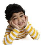 Retrato de uma criança de sorriso fotos de stock royalty free