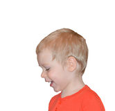 Retrato de uma criança feliz fotos de stock royalty free