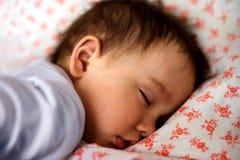 Retrato de uma criança pequena de sono da criança fotografia de stock royalty free