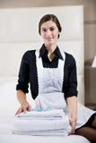 Retrato de uma empregada doméstica Foto de Stock Royalty Free