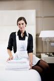 Retrato de uma empregada doméstica Fotografia de Stock