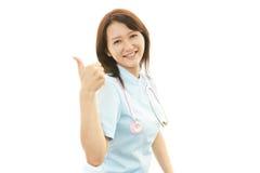 Retrato de uma enfermeira fêmea Fotografia de Stock Royalty Free