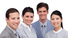 Retrato de uma equipe internacional do negócio fotografia de stock royalty free