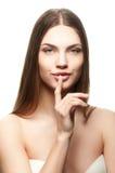 Retrato de uma fêmea bonita Fotografia de Stock