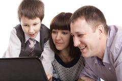 Retrato de uma família Foto de Stock