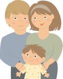 Retrato de uma família feliz ilustração stock