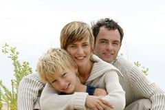 Retrato de uma família pequena Imagem de Stock