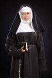 Retrato de uma freira Imagem de Stock Royalty Free