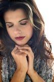 Retrato de uma jovem mulher Fotos de Stock Royalty Free