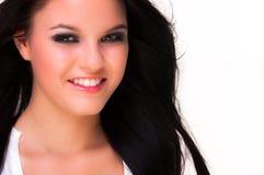 Retrato de uma jovem mulher bonita imagens de stock