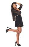 Retrato de uma jovem mulher com expressão engraçada Fotos de Stock Royalty Free