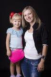 Retrato de uma mãe e de uma criança Imagem de Stock Royalty Free