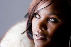 Retrato de uma menina africana imagens de stock royalty free