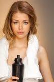 Retrato de uma menina após o funcionamento Fotografia de Stock Royalty Free