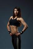 Retrato de uma menina atlética bonita Fotos de Stock Royalty Free