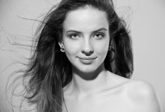 Retrato de uma menina bonita Imagem de Stock Royalty Free