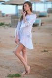 Retrato de uma menina bonita Imagens de Stock Royalty Free