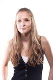 Retrato de uma menina bonita com cabelo longo Imagem de Stock Royalty Free
