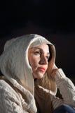 Menina bonita com parte superior da malha Imagem de Stock Royalty Free