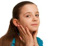 Retrato de uma menina bonita do brunett Imagens de Stock Royalty Free