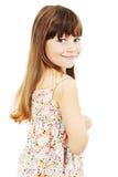 Retrato de uma menina bonita emocional foto de stock
