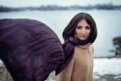 retrato de uma menina bonita exterior Imagem de Stock