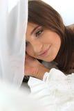 Retrato de uma menina bonita A imagem romântica do ar Fotografia de Stock