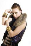 Retrato de uma menina bonita nova da cidade do lutador imagens de stock