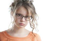 Retrato de uma menina bonita um a década Fotografia de Stock Royalty Free