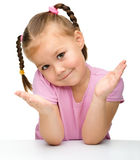 Retrato de uma menina bonito imagem de stock