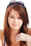 Retrato de uma menina bonito nova fotos de stock royalty free