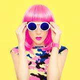 Retrato de uma menina brilhante Foto de Stock Royalty Free