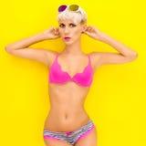 Menina brilhante do verão Imagem de Stock Royalty Free