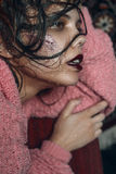 Retrato de uma menina com Imagens de Stock