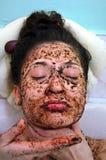 Retrato de uma menina com os olhos fechados Foto de Stock