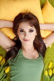 Retrato de uma menina da mola Fotos de Stock Royalty Free