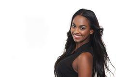 Retrato de uma menina de sorriso da raça misturada Fotos de Stock Royalty Free