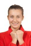 Retrato de uma menina de sorriso nova fotografia de stock