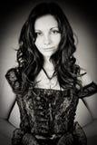 Retrato de uma menina do goth Fotos de Stock