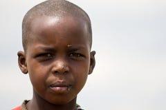 Retrato de uma menina do Masai foto de stock