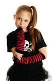 Retrato de uma menina do punk rock Fotos de Stock