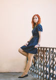 Retrato de uma menina do ruivo Foto de Stock