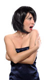 Retrato de uma menina do vamp Foto de Stock Royalty Free